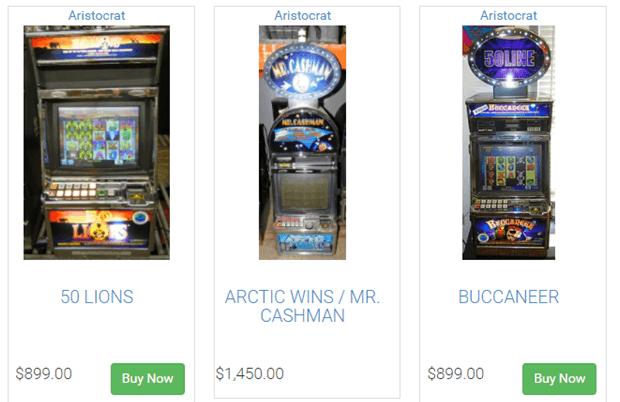 Aristocrat slot machines for sale