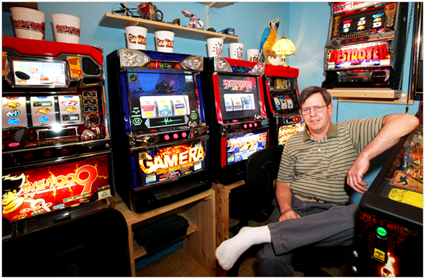 Brian Evans- Slot machine collector