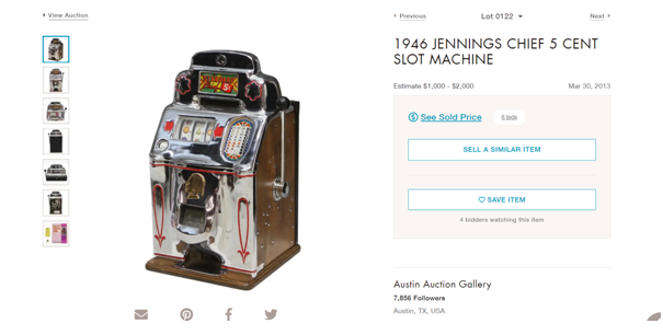 Jenning slot machines for sale