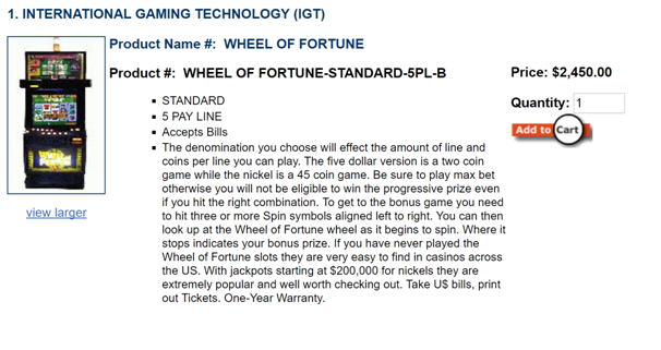 Where to buy wheel of fortune slot machine
