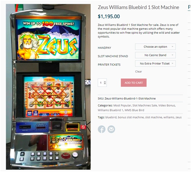 Zeus II slot machine design